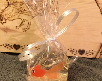 Soap with a Goldfish/ children's soap/party favors