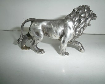 Vintage silver 925 lion,very detailed signed on paw