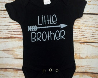 Little Brother Shirt- Little Brother- Kids Shirt- Graphic Tee- Big Sister Announcement- Trendy Kids Clothes- New Baby- Sibling Outfits