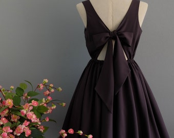 A Party V - Lolita Dress Sweet Lolita Backless Dress Charcoal Gray Bridesmaid Dress Dark Gray Party Dress Gray Summer Dress XS-XL