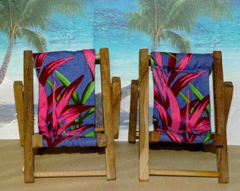 Small Purple Pink Tropical Print Cell Phone Chair Mamakohawaii