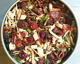 Organic Energy Tea, Herbal Tea, Tea for Natural Energy Boost and Stamina, Handblended Tea - Ginseng, Gingko, Nettles, Ginger, Licorice+