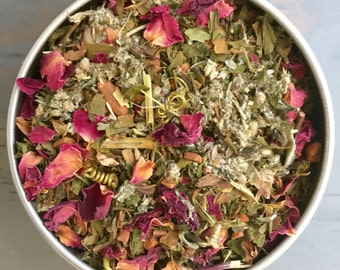 Organic Dream Tea, Herbal Tea with Mugwort, Peppermint, Ginkgo, Rose Petals + for lucid dreaming, astral projection, and dream recall
