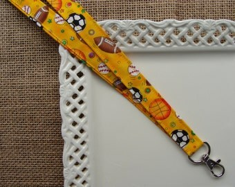 Fabric Lanyard - ALL Sports on Golden Yellow