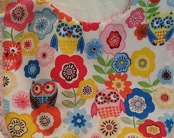 Owls & flowers  Bib