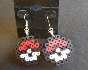 Pair of Pokémon Pokéball fuse bead earrings. Choose your ball, Mix and Match possible!