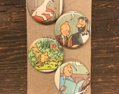 Tin Tin upcycled/recycled magnet set (4)