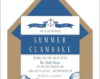 Clambake Invitations