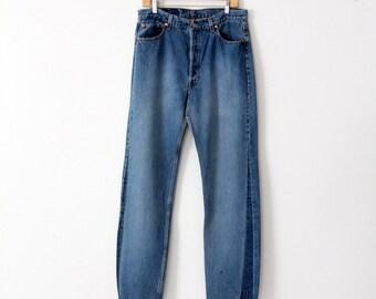 vintage Levi's 501 denim jeans, 34 x 35