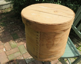 Vintage Wooden Cheese Box.