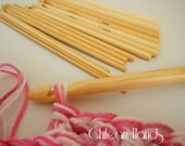 16 pcs of bamboo crochet hooks - from 2.0 mm to 12 mm