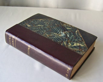 Antique Book Oliver Goldsmith Abbotsford Newstead Abbey By Washington Irving Half Leather Marbled Cover ca 1910-1937