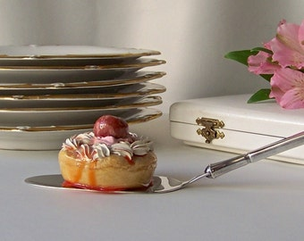 Vintage Sterling Dessert Server W & S Sorensen Denmark In Box Danish Sterling Brides Gift Vintage 1950's