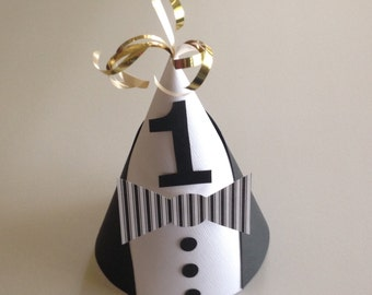 TUEXEDO Party Hats (Set of 6) -- What better way to dress up your affair?
