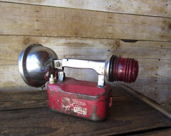 Vintage Flash Light - Big Beam Flashlight - Beacon Lamp  Number 164 Industrial Decor