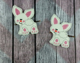 Bunny Backside Bobby Pin Hair Accessory, white rabbit, march hare, wonderland