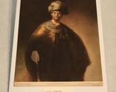 "1937 Art Print ""Noble Slav"" by Rembrandt"