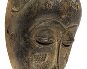 Baule Portrait Mask Kpan or Mblo Cote d'Ivoire African Art 100378 SALE WAS 150