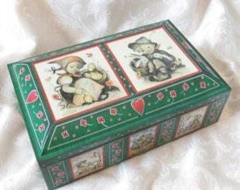 Vintage Hummel Kids Collectible Biscuit Tin