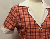 SALE vintage fabric blouse Small