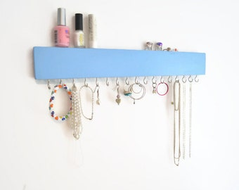 Wall Jewelry Organizer,Jewelry Holder, Belt Hook,Girls room,Pick your color