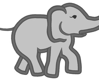 Elephant simply applique machine embroidery designs 4x4, 5x7  INSTANT DOWNLOAD