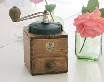 1940's Peugeot French Coffee Grinder / Mill - antique French coffee grinder - French Peugeot grinder