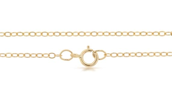 Finished Chains with spring ring clasp 14Kt Gold Filled 2.2x1.6mm 24 Inch Flat Cable Chain - 5pcs (2822) Bulk Quantity 20% discounted price