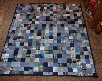 Custom Made Patchwork Quilt  - Made in fabrics of your choice - 8 sizes to choose from!!