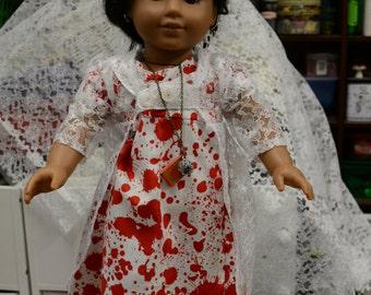 Halloween Pride Prejudice and Zombies Jane Austen dress, pellisse daggers snood