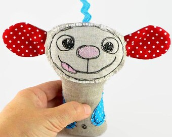 Personalized Stuffed Animal, Baby Toy, Baby Rattle Toy, Newborn Gift, Baby Gift for Girls, Baby Boy Gift, Personalized Gift, Infant Toy