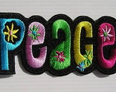 Brand New Peace Patch Embroidered Colored Cloth Patch Iron OR Sew