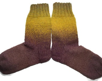 29 cm /// 11,5 inches Warm Socks - Wool Hand knit Christmas socks - boot socks - US Men 12 /// US Women 13 /// EU 45-46
