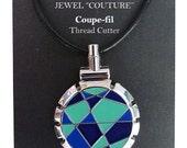 Bohin Jewel Thread Cutter, Blue Lime Necklace