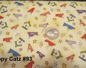 """Quilting Fabric Half Yard Pack """"Happy Catz"""" Red Rooster Fabric"""