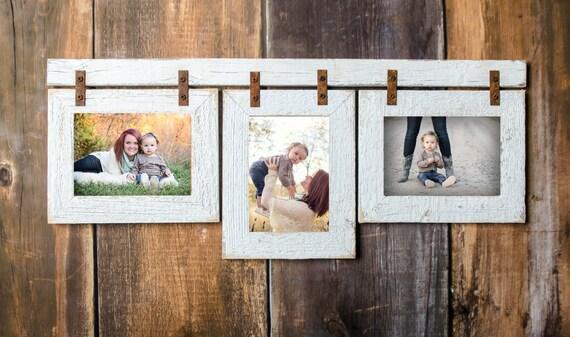Barnwood Mixed Collage Frame 3 5x7 Multi Opening Frame