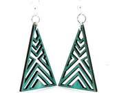 Interlocked Triangle Earrings - Wooden Earrings