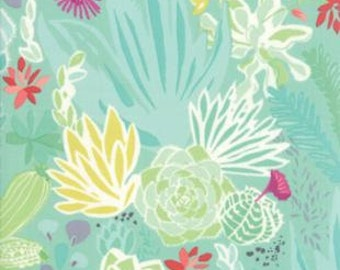 """5.5"""" of Canyon Desert Aloe Lt Green Floral by Kate Spain for Moda LAST PIECE"""