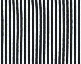 """LIttle Stripe 1/8"""" Black and White by Michael Miller."""