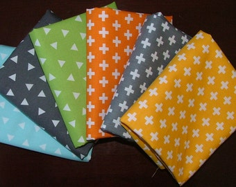 Remix Plus' & Triangles Bundle of 6 by Anne Kelle for Robert Kaufman
