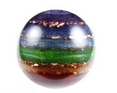 Chakra Orgonite Sphere with Appropriate Stones ... see description