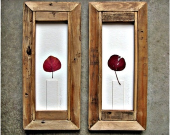 Crabapple Candles .|. Votives Leaves in Reclaimed Pine