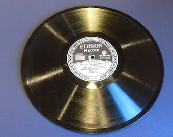 "Very Rare Thomas  Edison Record 10"" over 100 years old"