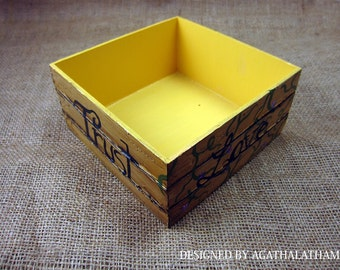 Wooden jewelry box for keepsakes open rustic box. Valentine's Day gift