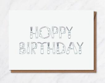 Hoppy Birthday A6 card