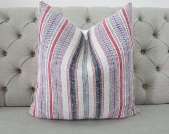 Vintage Hmong Hemp cushion cover, Handwoven Hemp Fabric-vintage Homespun hemp,Decorative Cushion