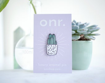 Cactus Enamel Pin // succulent pin - enamel pin - lapel pin - flair - enamel jewellery - pin badge