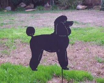 Poodle garden stake pet memorial great gift for the dog lover in your life