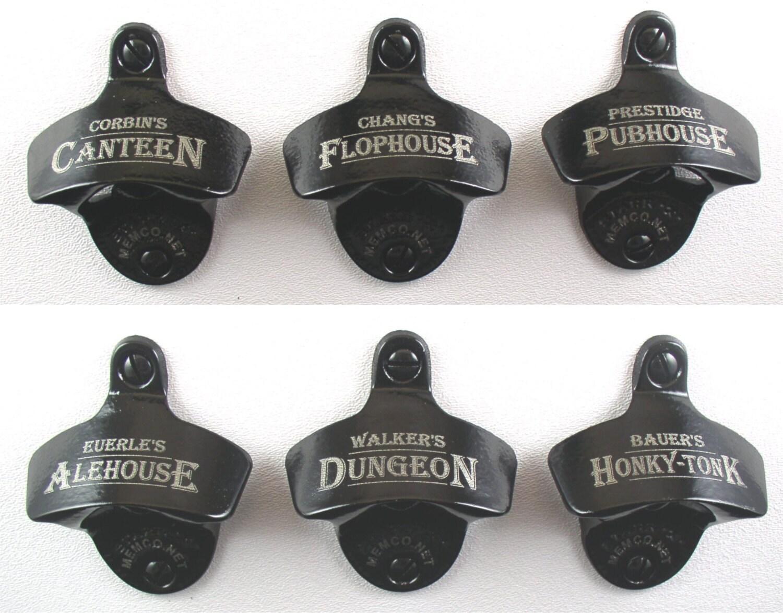 set of 6 personalized bottle openers groomsmen gifts. Black Bedroom Furniture Sets. Home Design Ideas