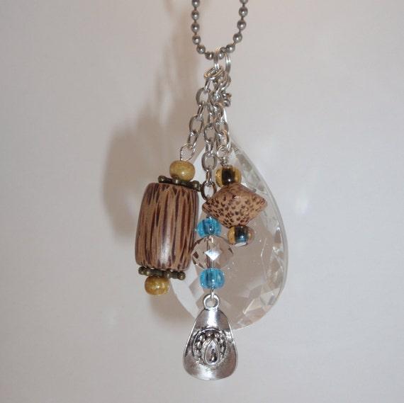 Vintage Chandelier Crystal, Cowboy